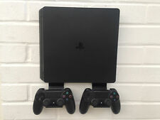 PS4 SLIM Wall Mount Bracket Kit In Black With Brackets For Controllers