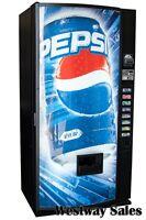 Dixie Narco 440 Single Price Soda Can Vending Machine w/ Classic Pepsi Graphic