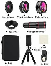 Phone Camera Lens Phone Lens Kit 9 in 1, 20X Telephoto Lens, 205°