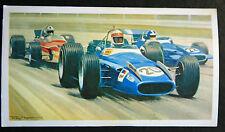Jackie Stewart  MATRA MS 80  Ford V8  1969 MONZA GP  Motor Racing Card # VGC