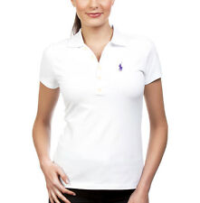 NEW Genuine RALPH LAUREN Polo White Classic Cotton Polo Shirt Womens Size Medium