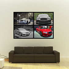 Bentley Continental GT GTC Super Sport HD Poster Luxury Huge Print 54x36 Inches