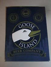 New Goose Island Beer Company metal Tin Tacker beer sign bar Chicago IL lEd 312