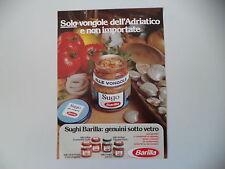 advertising Pubblicità 1985 BARILLA SUGO ALLE VONGOLE