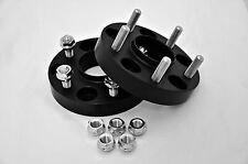 12MM FORD HUB CENTRIC SPACERS 5X114.3 CB 67.1 W/STUDS ATTACHED IN BLACK ANODIZED