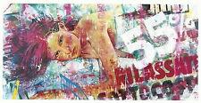 M. DELVECCHIO olio 120x60 + catalogo con rotella lodola schifano warhol kostabi