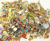 Huge Lot Jewelry Vintage Now Junk Craft Box 3 FULL POUND Necklace Brooch Earring