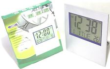 VERY LARGE DIGITAL CLOCK, DESK OR WALL MOUNTED,TEMPERATURE,CALENDAR, ALARM/2-AA