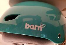 Womens Bern Brighton All Seasons Surf Blue Snow Bike skate Helmet small 6 7/8