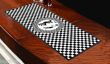 Ska Black & White Checked Bar Towel Runner Pub Mat Beer Cocktail Party Gift