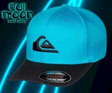 New Quiksilver Men's Mountain And Wave Blue Flexfit Cap Hat