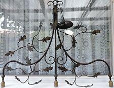 rustic chandeliers wrought iron. CHANDELIER 3 ARM WROUGHT IRON OAK LEAF GARLAND RUSTIC ANTIQUE VINTAGE LOOK Wrought Iron Rustic Primitive Chandeliers  eBay