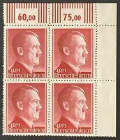 Germany. German Reich. 3RM. Hitler Definitives BLOCK. SG801. 1942. MNH. #SC93