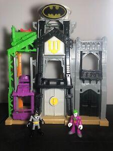 Imaginext Wayne Manor Tower Batman Playset lights & sound WORK TESTED 2 Figures
