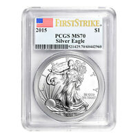 2015 $1 American Silver Eagle MS70 PCGS - First Strike