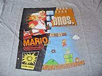 Super Mario Brothers Men's KO Vintage Nintendo Gray T-Shirt Size XL
