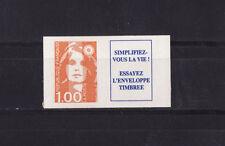 timbre France vignette  Marianne  1f orange  autocollant  3009a **