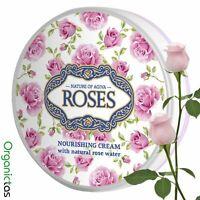 Natural BULGARIAN ROSE Face Cream Hydrating Moisturizing with Vitamin A+E 100ml