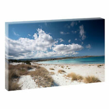 Endloser Strand - Bild Dünen Edel Meer Leinwand Poster XXL 120 cm*80 cm 653a