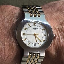 Chaumet Men's 18kt. & Stainless Steel Watch Model 27A-12 French Timepiece NICE