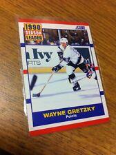 SCORE HOCKEY 1990 WAYNE GRETZKY SEASON POINT LEADER CARD # 353 L.A. KINGS