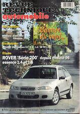 RTA revue technique l'expert automobile n ° 612 ROVER SERIE 200