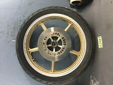 1985 yamaha xv700 virago front wheel tire rim DISCS STRAIGHT GOLD USED