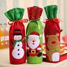 EG_ CHRISTMAS SANTA CLAUS/SNOWMAN/ELK PATTERN WINE BEER BOTTLE BAG COVER XMAS DE
