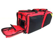 LINE2design Deluxe Oxygen First Aid Bag EMT Paramedic Fully Padded Red
