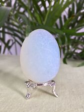 Opalite Egg With Stand Specimen Opalite Magic Egg Crystal Therapy Stone Reiki.
