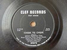 Oscar Peterson Cheek to Cheek / I've got my Love to keep me Warm Clef 89078