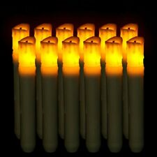 12PCS LED Flameless Taper Flickering Battery Operated Decor Candles Lights New