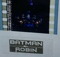 Batman & Robin (1998) Movie Authentic Film 5-Cells Strip BATMAN IN BATMOBILE