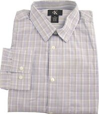 Calvin Klein Men's Long Sleeve Brushed Cotton Dress Shirt - Size: XL         H-3
