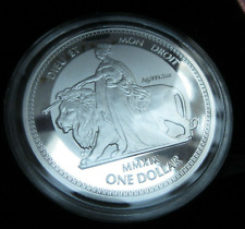 Virgin Isl. Queen Victoria Una and the Lion Reverse Frosted 1oz Silver COIN 2019