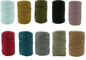 5 metres Macrame Thread Nylon Cord Shamballa 5mm 10 Different Colours