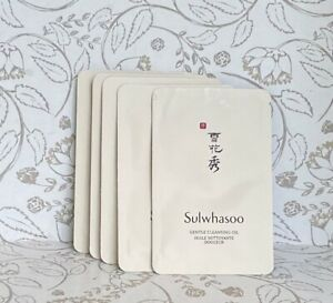 Lot of 5 Sulwhasoo Gentle Cleansing Oil Cleanser Samples 4ml each