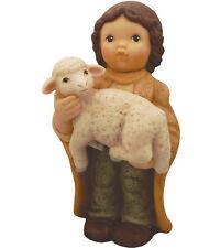 """Goebel Nina & Marco  SHEPHERD HOLDING LAMB 5.5"""" Figurine #465341   NIB MINT"""