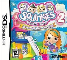 Squinkies 2: Adventure Mall Surprize (Nintendo DS, 2011) Video Game Brand New