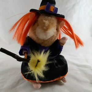 Gemmy Halloween Dancing Singing Hamster Witch Sings Change your Evil Ways