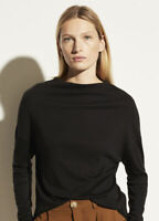 NEW Vince Long Sleeve Drop Shoulder in Black - Size S #T1117