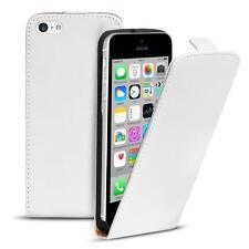 Flip Case Apple iPhone 5C Hülle Pu Leder Klapphülle Handy Tasche Cover Weiss