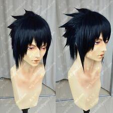 Naruto Sasuke Uchiha (need styled) Anime Costume Cosplay Wig + Free Track NO