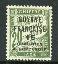 Guyane 1925 French Guiana 15¢/20¢ Due Scott #J6 Mint H543