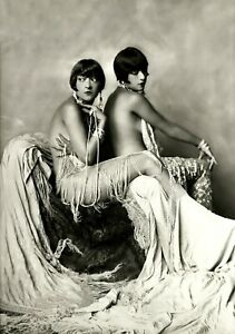 DOLLY SISTERS Hungarian Twins Vaudeville Movie Star Vintage Photo Reprint Erotic