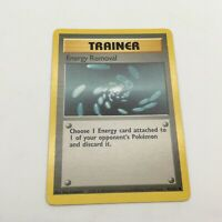 Energy Removal Common Trainer Pokemon Card Base Set Unlimited English 92//102