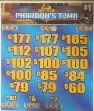 Pharaoh's Tomb $1 pull tabs 00004000  $620 profit