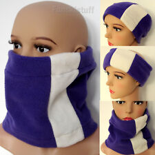 Purple Fleece Neck warmer Neckwarmer Snood Scarf Cream Ski Wear Mens Ladies head