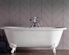 Cambridge Roll Top Freestanding Bath 1690 x 780 White Res Bath Feet