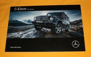 Mercedes G-Klasse 2015 Prospekt Brochure Catalog Folder Prospetto каталог